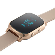 Smart Watch GPS Tracker T58 Personal GPS GSM Tracking Device SOS Button 53 Hours Standby Time GPS Bracelet One Key Calling SOS(China)