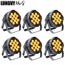 Free Shipping 6pcs/lot 12x18w RGBWA UV 6in1 Outdoor Led Par Light DMX 512 Stage Lighting DJ Light