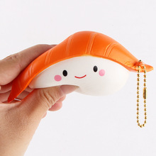 Jumbo Kawaii salmon sushi Squishy charms Squishy Slow Rising squeeze soft Scented phone straps toy collection food Simulation(China)
