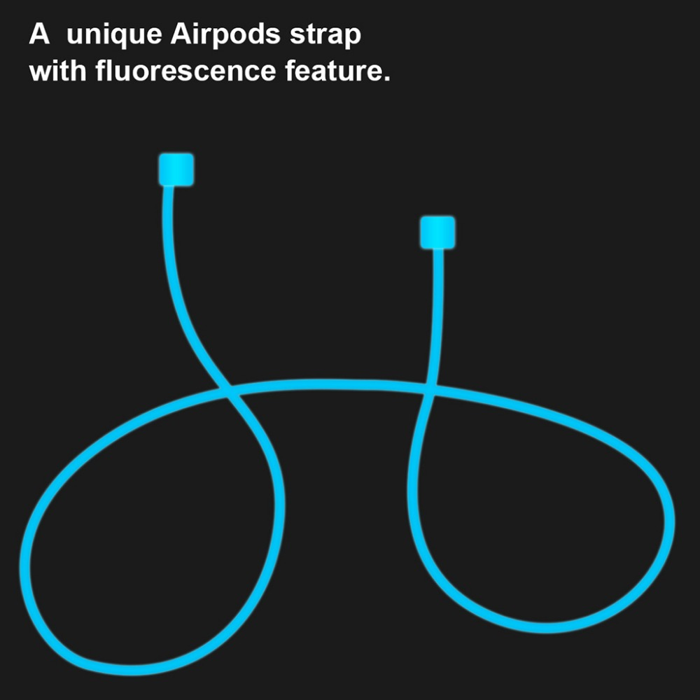 Mini Luminous Silicone Ear Loop Strap Anti Lost String Rope Cord For Apple AirPods