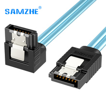 SAMZHE SATA III 6.0 Gbps Cable with Locking Latch for Hdd SSD DVD PC Computer Data Cable 50/100cm(China)