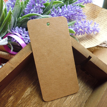 100pcs 78x39mm Kraft Paper Tag Blank Gift Tag , Wedding Gift Tags, Party Tags Cards,Price Label, Hemp String Included(China)