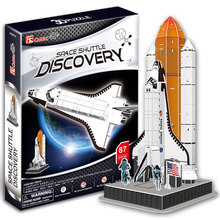Space Shuttle Discovery Model 3D Dimensional Puzzle Jigsaw DIY Children's Educational Puzzle Toys for Gift(China)