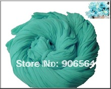 Turquoise color mesh flowers,nylon stocking material for DIY flower,20pcs/lot free shipping(China)