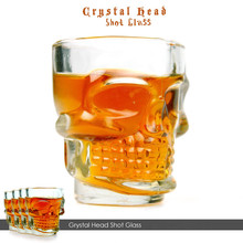 4Pcs Crystal Skull Head Shot Glass Party Transparent Champagne Cocktails Beer Coffee Wine Cup Doomed Drinkware Halloween Gift