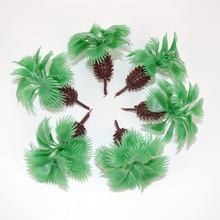 Hot Sale Miniature Palm Tree 5cm architectural ho z scale palm tree model for scenery layout(China)