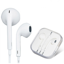 In ear Mic Earphone for original iphone Head phones Hands free Stere Music Ear phones with Microphone for apple Headset Ear buds