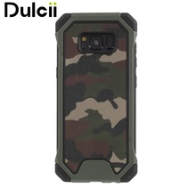 Dulcii Cover Case for Samsung Galaxy S8 G950 Shockproof Camouflage Style PU Leather Coated Hybrid TPU+PC Material Phone Casing