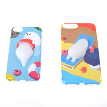 JETTING Hot For IPhone 6 6plus 7 7Plus Case Squishy Seals Sea Lions 3D Cartoon Doll Hard Phone Case Accessories(China)