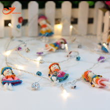 Girl string lights garland fairy holiday led  light chiildren party spring garden lights  battery powered  party 3V AA indoor