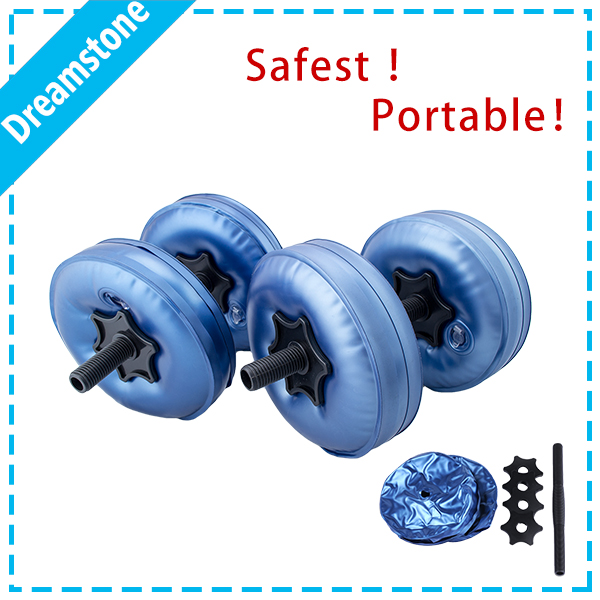 A pair/2 pcs dumbbells weight adjustable 5-10 kg water pour dumbbell fitness(China (Mainland))