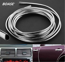 3M x 6mm U Style Chrome TRIM STRIP BUMPER AIR VENT GRILLE SWITCH RIM Moulding Silver Fit For Chevrolet Cruze Mazda Volvo ect