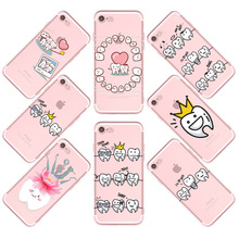 Unique Design Cute Wisdom Teeth Dentist Tooth Love Phone Cases For iPhone 7 7Plus 6 6s 5 5s SE 6 Plus 6sPlus 6s Clear Cover