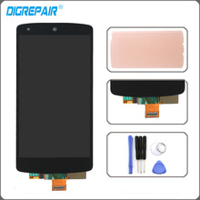 Blakc For LG Google Nexus 5 D820 D821 LCD Display Touch Screen Digitizer Assembly + Adhesive+Tools, Free Shipping +Tracking No.(China)