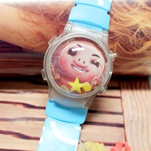 1PC Lovely Pig Boys Led Watches With Flashing Light And Calendar Cartoon Funny Children Casual Watches Silicone Wristwatches Hot