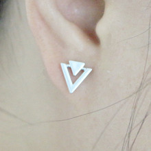 ES997 Women Stud Earrings Triangle Minimalist Punk Earing Fashion Jewelry Brincos para as mulheres Bijoux Geometric 2017 HOT