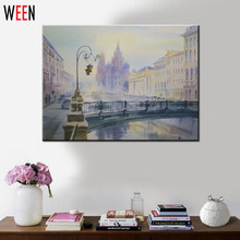 Painting Coloring by Numbers 40x50cm Urban Background Cuadros Decorative Pictures DIY Wall Arts Painting by Numbers Pintura(China)