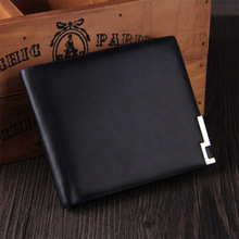 Men short wallet PU short wallet fashion seventy percent off many product ultra soft leather  cross purse