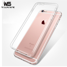 WUANGSUNE Ultrathin TPU Case For iPhone 5 5S SE 6 6S 7 plus Transparent Soft Clear Slim Jacket shell Brand phone cover case