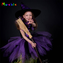 Little Witch Baby Halloween Costume Girls Tulle Tutu Dress Kids Party Dresses Girl Children Cosplay Costume Festa Infantil