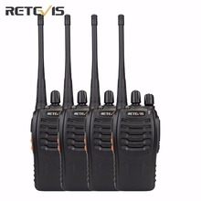 4 pcs Retevis H777 Walkie Talkie Amateur Two Way Radio UHF400-470MHz UHF Transceiver Handy Portable CB Radio Communicator A9105A(China)