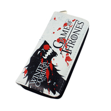 New PU Leather Wallet Game of Thrones Long Wallets With Card Holder Men Women Boys Purse Cartoon money bag
