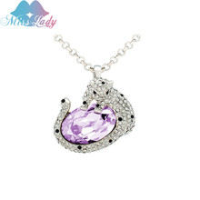 Miss Lady New fashion multiple Colour Round crystal Leopard necklace Necklace Fashion women Fashion Jewelry for women SY00524