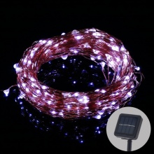 New LED Solar String lamp Fairy Light Christmas Lights 10M 100 LED 5m 50led Copper Wire Xmas Wedding Party Decor Lamp Garland