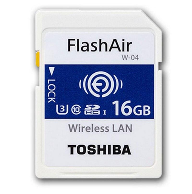 Toshiba WIFI SD Card 16GB/32GB/64GB SDHC Memory Card U3 Wireless WIFI FlashAir W-04 Class10 Digital SD Memoria for Camera New<br>