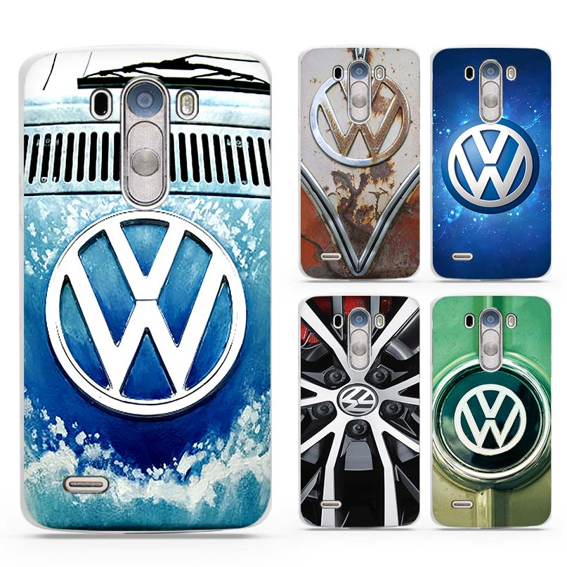 Volkswagen vw bus White Case Cover Shell Coque for LG G3 G4 G5 G6 V10 V20 K3 K4 K8 K10 2017 Stylus3 LV5(China)