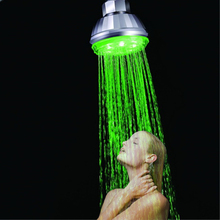75pcs wholesale Green color led shower head Led hand shower with lights