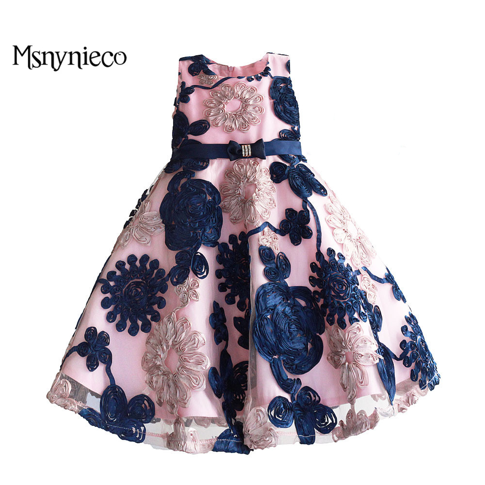 Girls Christmas Dress Baby Birthday Party Dresses 2018 Summer Fashion Princess  Floral Sleeveless Design Baby Girl Clothes <br>