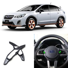 Brand New Carbon Fiber Steering Wheel DSG Paddle Extension Shifters For Subaru XV