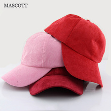 MASCOTT Pure color corduroy adjustable baseball cap Men and women breathable leisure hat