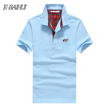 E-BAIHUI brand new mens cotton tops tees Mens Tenis Spot Poloshirt Cotton Polos shirts Men Camisa Polo Solid Men clothing P013