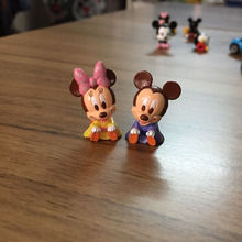 1pcs Original Mickey Minnie Mouse with Japanese Kimono Action Figures Toy Model Doll for Collection Gifts 2CM