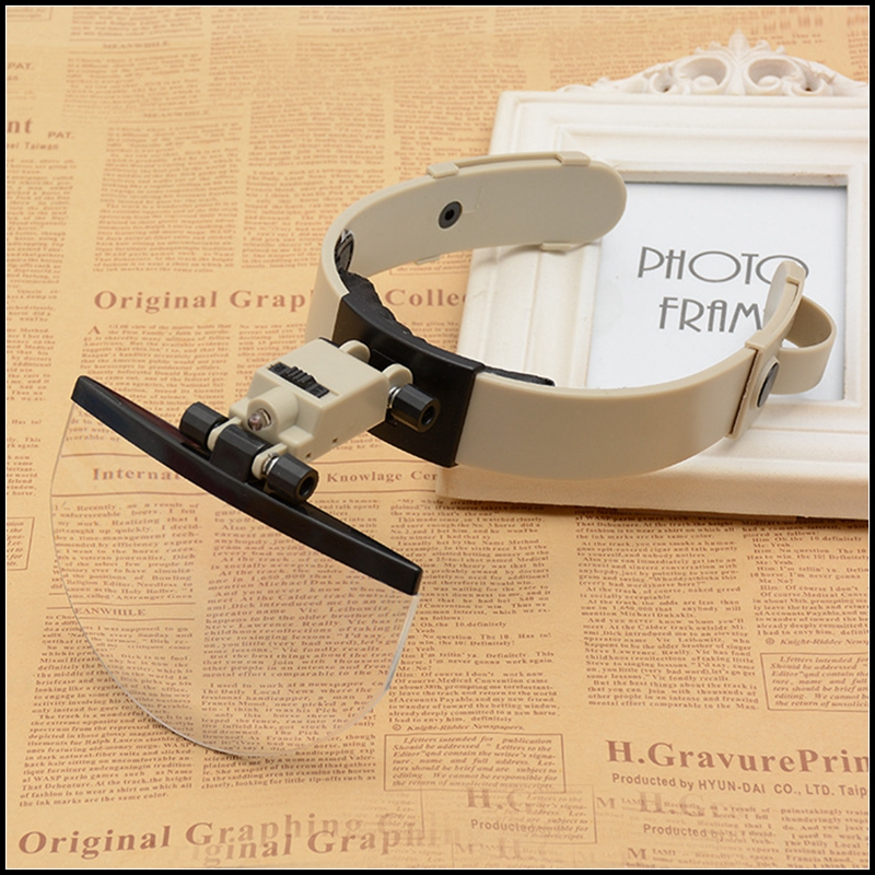 2X 3.5X 4.5X 5.5X Illuminated Helmet Magnifying Glass with LED Lights Watch Jewelry Repair Reading Headband Magnifier Loupe<br>