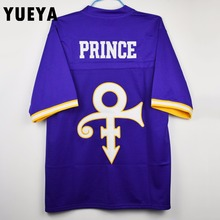 "YUEYA ""Purple Rain"" Movie Jerseys Prince Tribute American Football Jersey Mens Cheap Purple S-3XL"