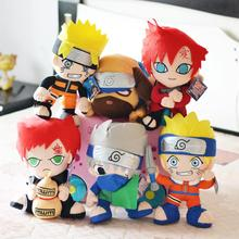 6pcs/lot 30cm Naruto Uzumaki Naruto & Hatake Kakashi & Gaara & Pakkun Dog Plush Toys Doll Stuffed Toys Soft Toy Gifts for Kids