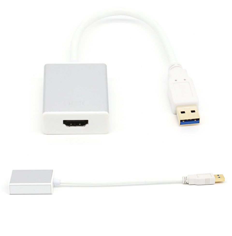USB3.0 Male to HDMI Female Converter Cable 1080P Cable Aluminium Alloy  (8)