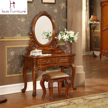 Ancient European style dresser American country wood bedroom furniture makeup table  dressing table