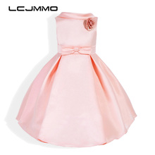 LCJMMO Princess Flower Chiffon Girl Dress Summer 2017 New Kids Pageant Formal Wedding Party Birthday Dresses Girls Clothes