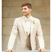 Custom Made Men Tuxedo Lapel TAN NOTCH tailored suit Luxury and Comfort with An Open Cut Jacket Wedding Mens SuitS with Pants