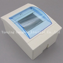 3-4 ways Plastic distribution box for circuit breaker indoor on the wall(China)