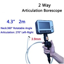3.9mm 2 Way Direction 2M Rotational Inspection Camera Industry Endoscope Video Borescope 4.3inch LCD USB SD Card ,VD-2ED39(China)