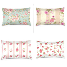 Lxury Print Shabby Chic Pink Floral Pink Floral Pillowcase Retro Zippered Home Decor Cushion Cover Sofa Pillow capa de almofada