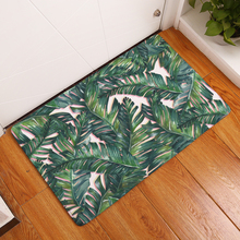 New Anti-Slip Carpets Plant Leaves Print Mats Bathroom Floor Kitchen Rugs 40X60 50X80 cm(China)