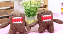10PCS Bigger 7*5CM DOMO Plush Stuffed TOY Phone String Pendant Lanyard DOLL , BAG Key Chain TOY Wedding Gift Bouquet TOY