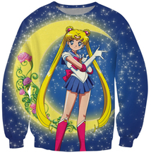 Women Men fashion Tops Hoodies Sweats Sailor Moon Serena Crewneck Sweatshirt the iconic Japanese anime character vibrant jumper