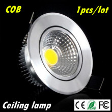 1pcs Super Bright Dimmable Led downlight light COB Ceiling Spot Light 3w 5w 7w ceiling recessed Lights Indoor Lighting(China)